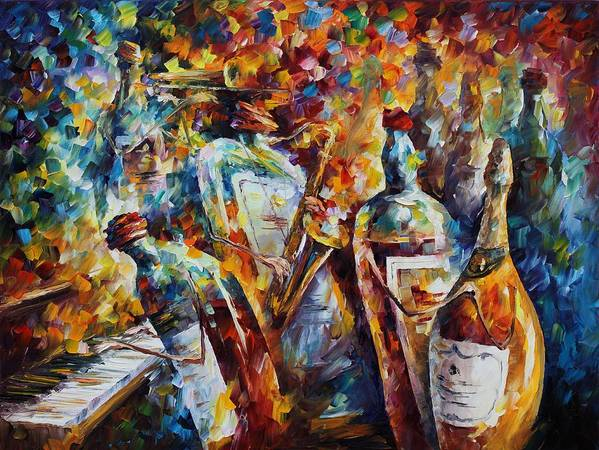 Afremov Poster featuring the painting Wedding Anniversary by Leonid Afremov