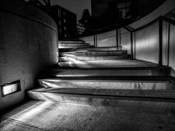 Steps Poster featuring the photograph 3am Portland by Bob Orsillo