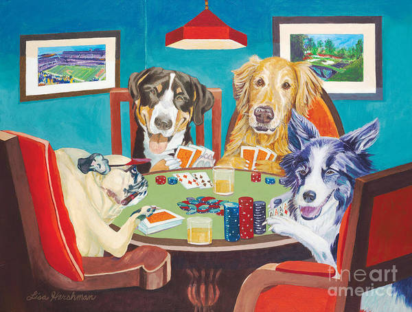 Poker Poster featuring the painting Aces Run Wild by Lisa Hershman
