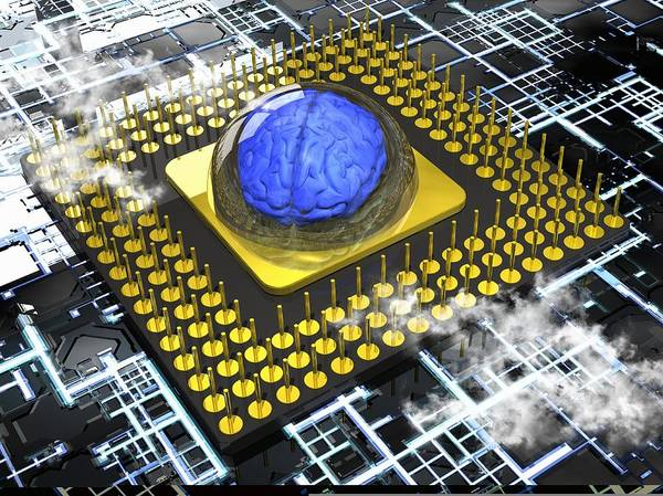 A.i. Poster featuring the photograph Artificial Intelligence, Conceptual by Science Photo Library