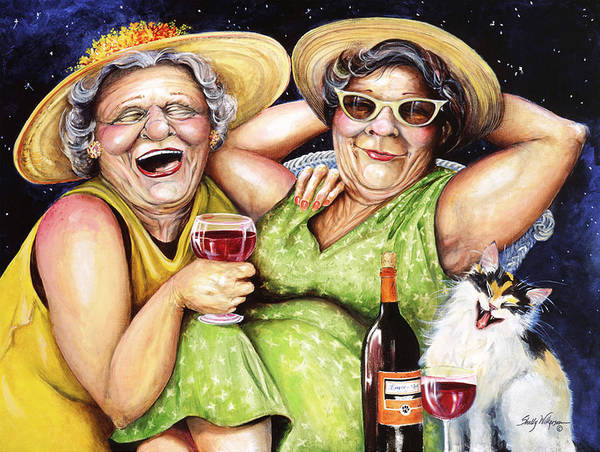 Whimsical Poster featuring the painting Bahama Mamas by Shelly Wilkerson