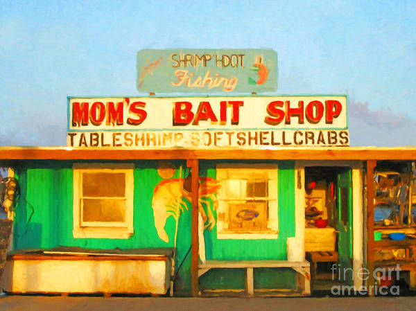 Americana Poster featuring the photograph Bait Shop 20130309-1 by Wingsdomain Art and Photography
