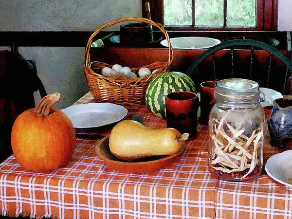Squash Poster featuring the photograph Baking A Squash And Pumpkin Pie by Susan Savad