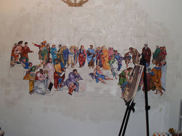 Photography Poster featuring the painting Behind The Scenes Mural 7 by Becky Kim