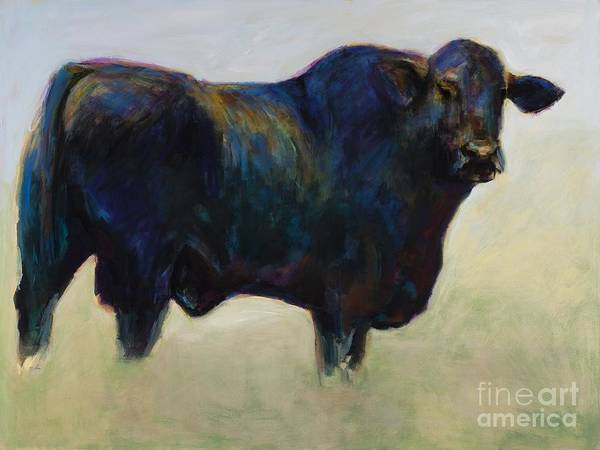 Black Angus Poster featuring the painting Bull by Frances Marino