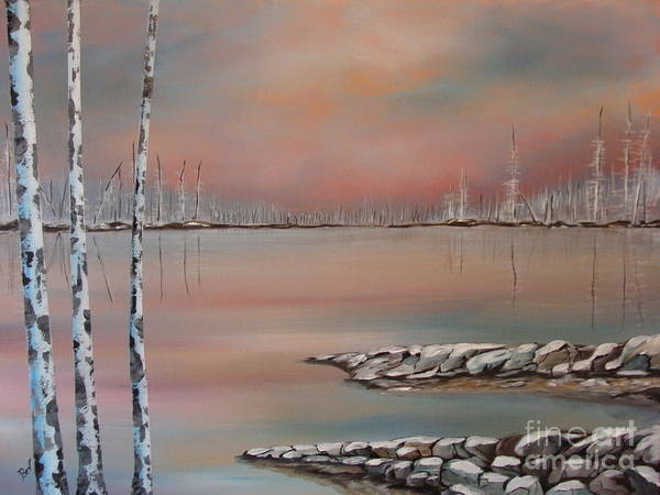 Landscape Prints Poster featuring the painting Canadian Northern Reflections by Beverly Livingstone