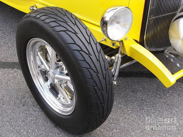 Classic Car Poster featuring the photograph Classic Tire Tread by Ann Horn