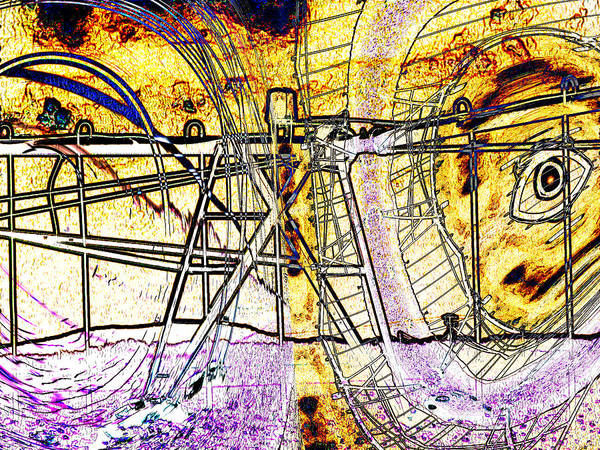 Abstract Poster featuring the digital art Cultivation by Wendy J St Christopher