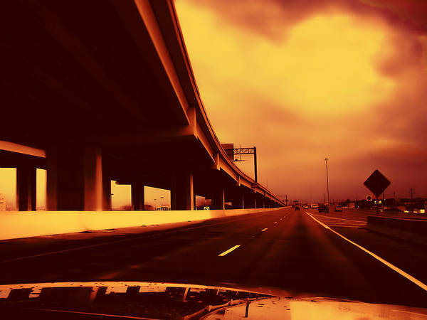 I-35 Poster featuring the photograph Everybody's Out Of Town - Sundown by Wendy J St Christopher