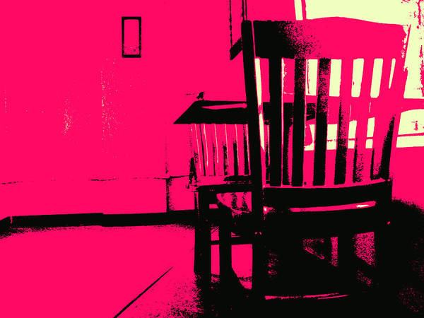 Chair Poster featuring the digital art Ghosts by Wendy J St Christopher