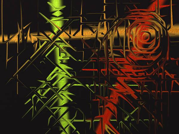 Poster featuring the digital art Grunge by Michael Jordan