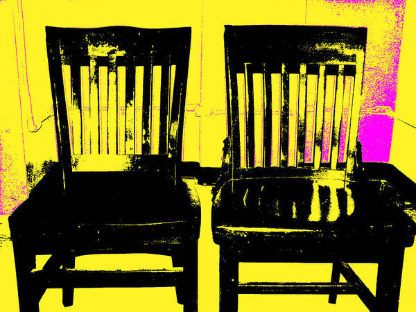 Chair Poster featuring the digital art Identity Crisis by Wendy J St Christopher