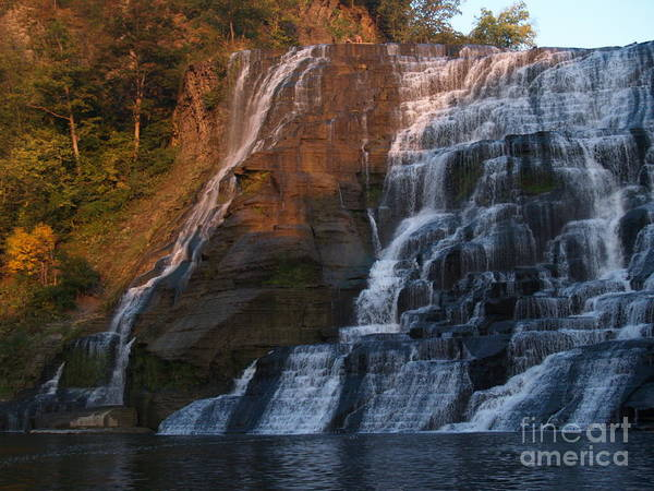 Ithaca Falls Poster featuring the photograph Ithaca Falls -- Late Afternoon by Anna Lisa Yoder