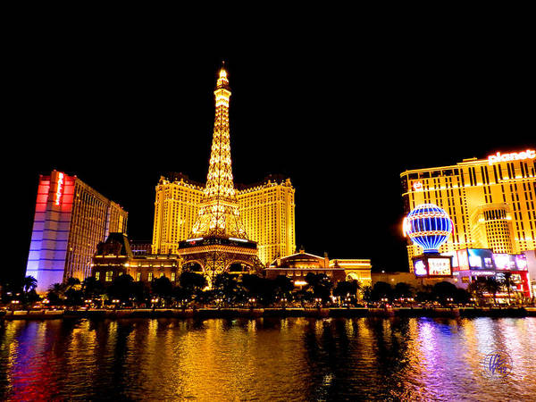 Paris Las Vegas Hotel And Casino Poster featuring the photograph Las Vegas 012 by Lance Vaughn