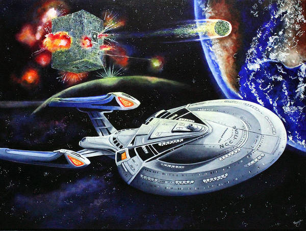 Star Trek Poster featuring the painting Last Hope by Richard Savage