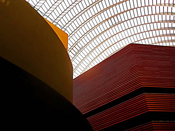 Architecture Poster featuring the photograph Lines And Light by Rona Black