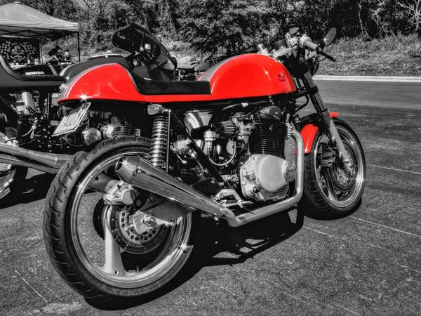 Motorcycle Poster featuring the photograph Little Red Racer 001 by Lance Vaughn