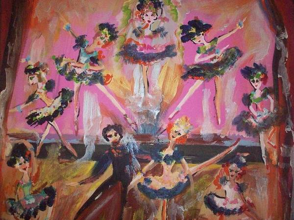 Waltz Poster featuring the painting Pink Apple Waltz by Judith Desrosiers