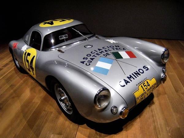 Porsche Poster featuring the photograph Porsche 550 Le Mans by Lance Vaughn