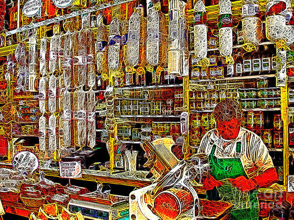 San Francisco Poster featuring the photograph San Francisco North Beach Deli 20130505v1 by Wingsdomain Art and Photography