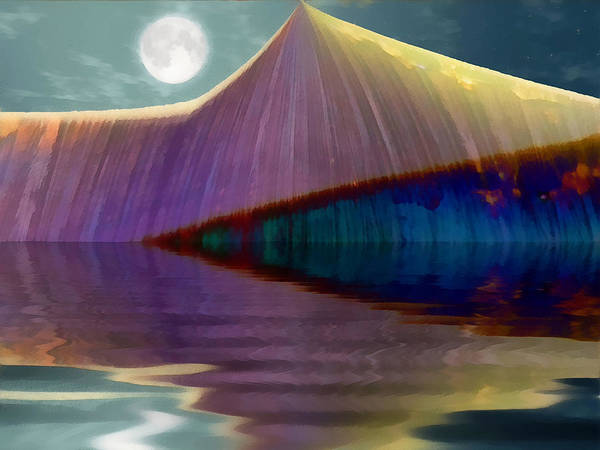 Abstract Poster featuring the digital art Serendipity By Moonlight by Wendy J St Christopher