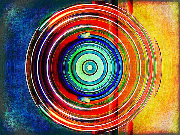 Abstract Poster featuring the digital art Spot On by Wendy J St Christopher