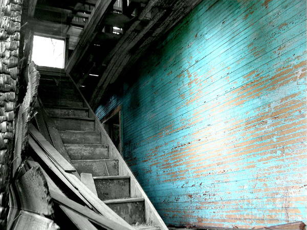 Stairs Poster featuring the photograph Stairway To Abandoned by Amy Sorrell