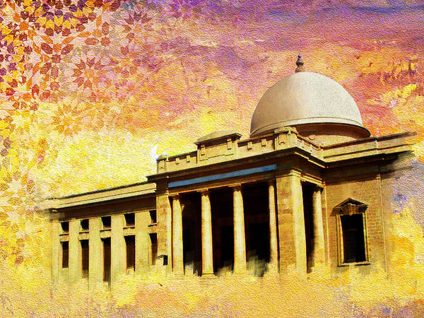 Pakistan Poster featuring the painting Supreme Court Karachi by Catf