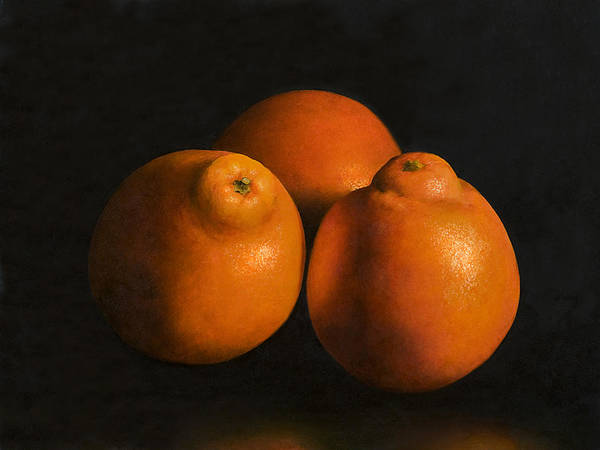 Tangerines Poster featuring the painting Tangerines by Anthony Enyedy
