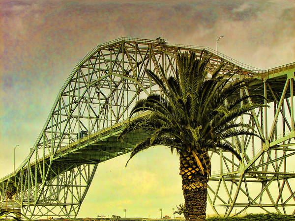 The Bridge As The Sun Breaks Through Poster featuring the digital art The Bridge As The Sun Breaks Through by Wendy J St Christopher