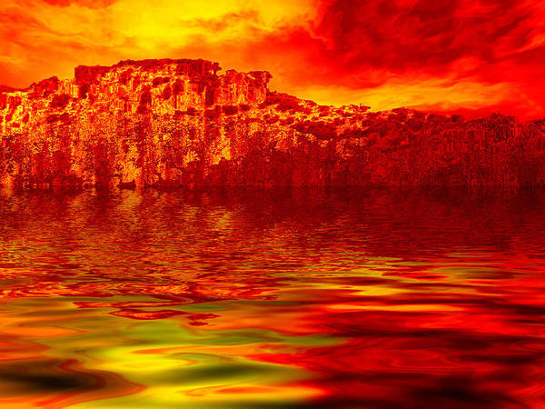 Landscape Poster featuring the digital art The Burning Zone by Wendy J St Christopher
