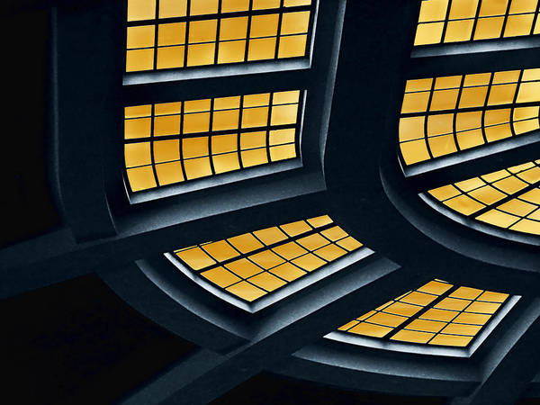 Architecture Poster featuring the photograph The Glass Ceiling by Wendy J St Christopher