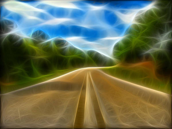 Road Poster featuring the digital art The Journey by Wendy J St Christopher