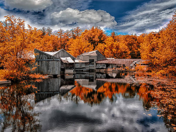 Landscape Poster featuring the photograph The Old Boat House by Bob Orsillo