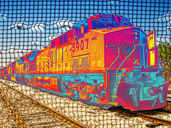 Train Poster featuring the digital art Unexpected Journey by Wendy J St Christopher