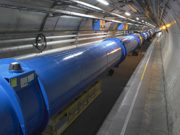 Lhc Poster featuring the photograph Lhc Tunnel, Cern by David Parker