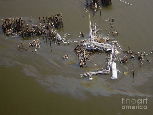 Katrina Poster featuring the photograph Hurricane Katrina Damage by Science Source