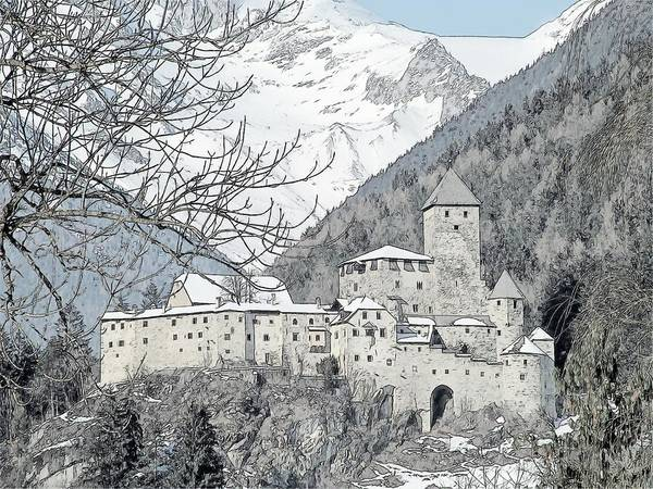 Europe Poster featuring the photograph Taufers Knights Castle Valle Aurina Italy by Joseph Hendrix