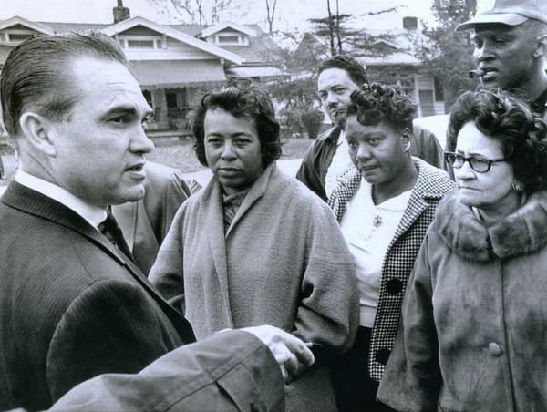 History Poster featuring the photograph Alabama Gov. George Wallace Talks by Everett