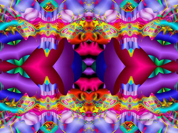 Purple Poster featuring the digital art Blueberry Ice by Robert Orinski