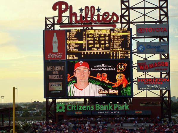 Phillies Poster featuring the photograph Citizens Bank Park 2 by See Me Beautiful Photography