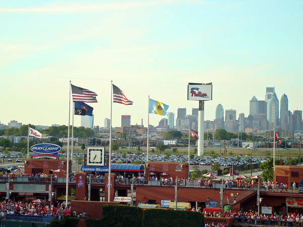Sports Poster featuring the photograph Citizens Bank Park 3 by See Me Beautiful Photography