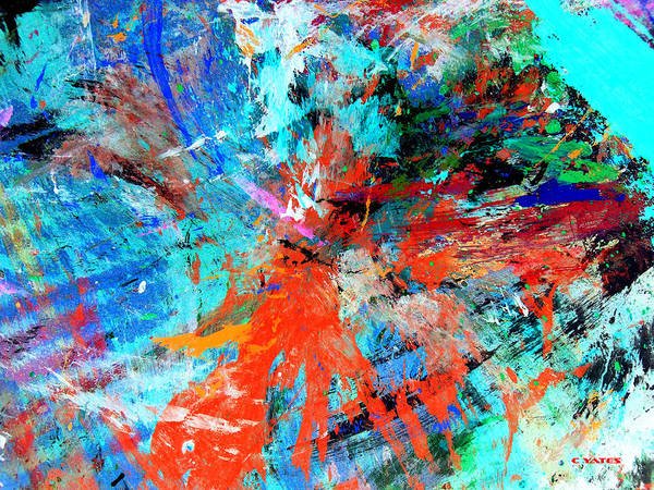 Abstract Poster featuring the painting Dynamic Movement by Charles Yates