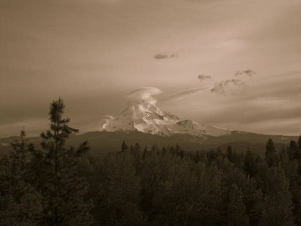 Mt. Hood Poster featuring the photograph Glowing Mt. Hood by Melissa Maderos