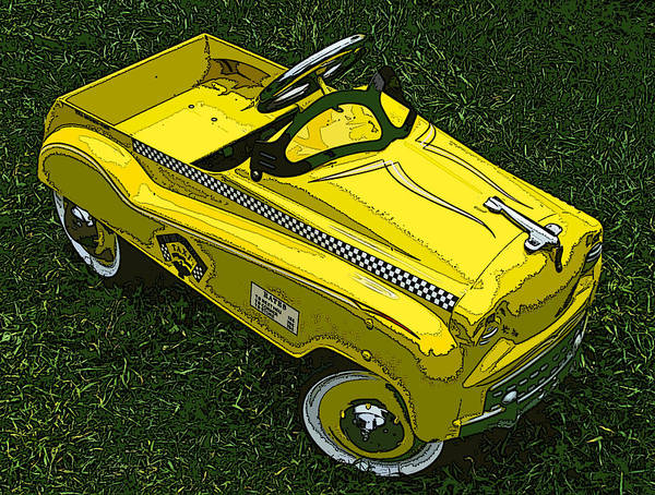 Kid's Pedal Car Taxi Poster featuring the photograph Kid's Pedal Car Taxi by Samuel Sheats
