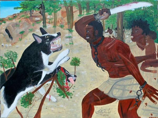 Nicole Jean-louis-neg Mawon Haiti 1791 Poster featuring the painting Neg Mawon Haiti 1791 by Nicole Jean-Louis