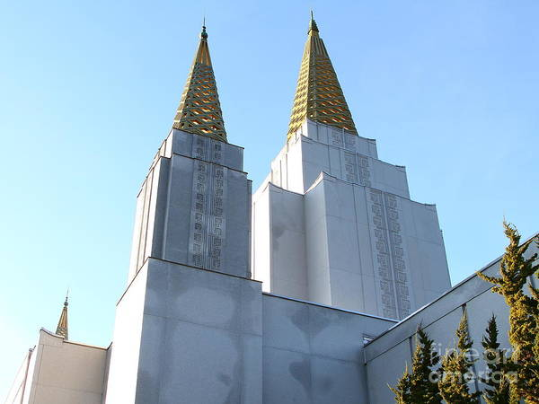 Bayarea Poster featuring the photograph Oakland California Temple . The Church Of Jesus Christ Of Latter-day Saints . 7d11360 by Wingsdomain Art and Photography