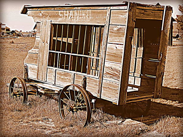 Cindy Wright Poster featuring the photograph Shaniko Paddy Wagon by Cindy Wright