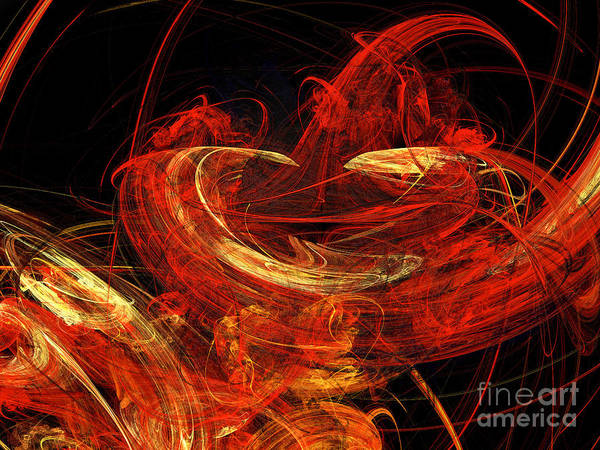 3d Poster featuring the digital art St Louis Abstract by Andee Design