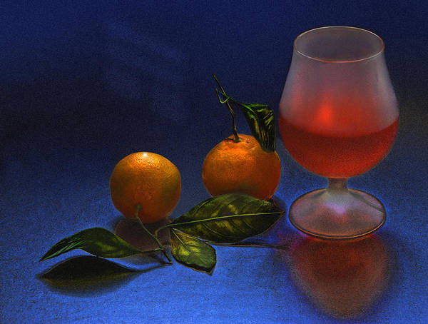 Still Life Poster featuring the photograph Still Life With Tangerins by Vladimir Kholostykh